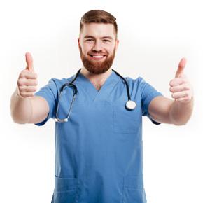 Imagen de Médico sonriente
