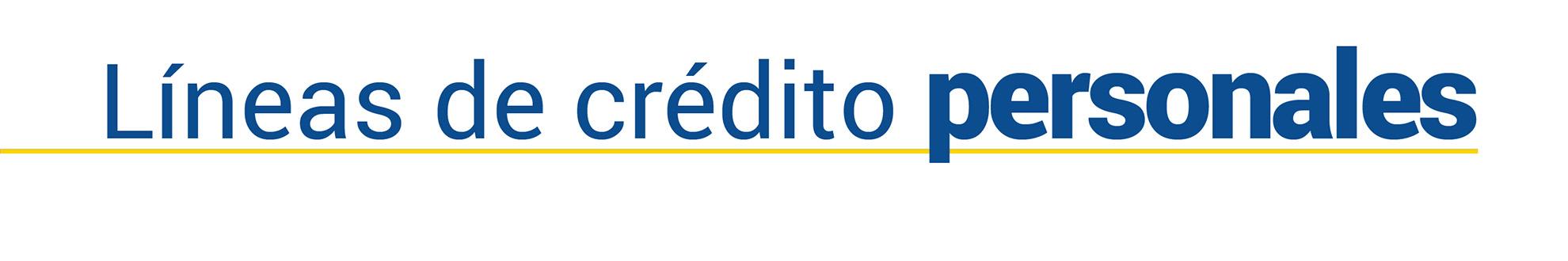 Imagen de Líneas de Crédito Personales
